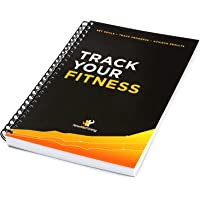 Workout Log Book & Fitness Journal - 25-Week Designed by Experts w/Illustrations : Track Gym Bodybuilding & Crossfit Progress : Sturdy Binding Thick Pages & Laminated Protected Cover
