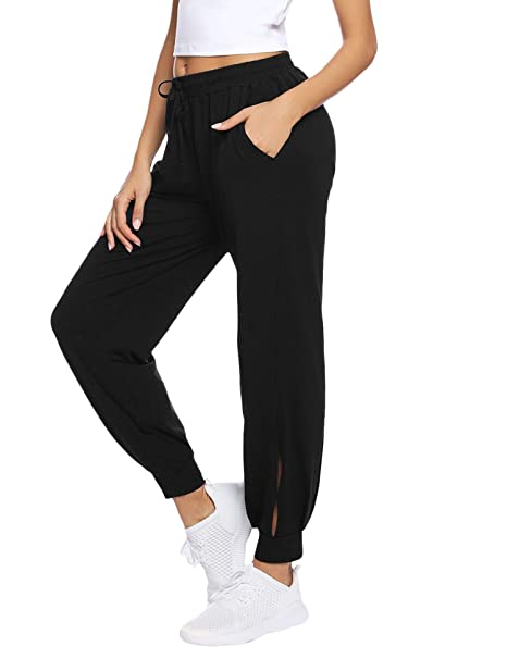 enjoy bottom price new lower prices new season Hawiton Women's Tracksuit Bottom Cotton Joggers Pants with Pockets Ladies  Sweatpants for Running Workout Gym