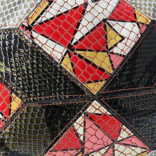 女性本物の革パッチワークアートシェルバッグヴィンテージクロスボディバッグショルダーバッグ YZUEYT