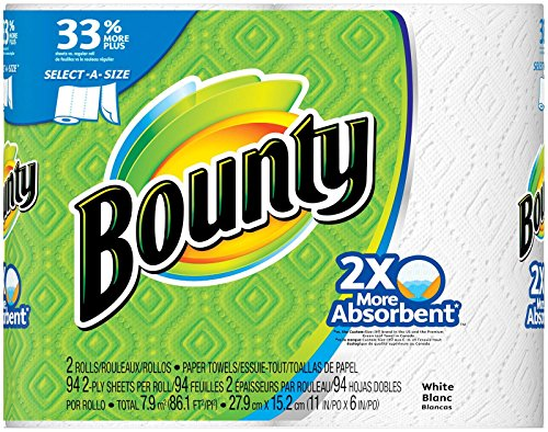Price comparison product image Procter & Gamble 88182 Bounty White Big Towel (2 Pack)