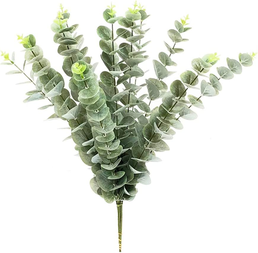 """Eucalyptus Spray Stem~Wired Branches~Green Tone~18/"""" T~Silk//Artificial"""