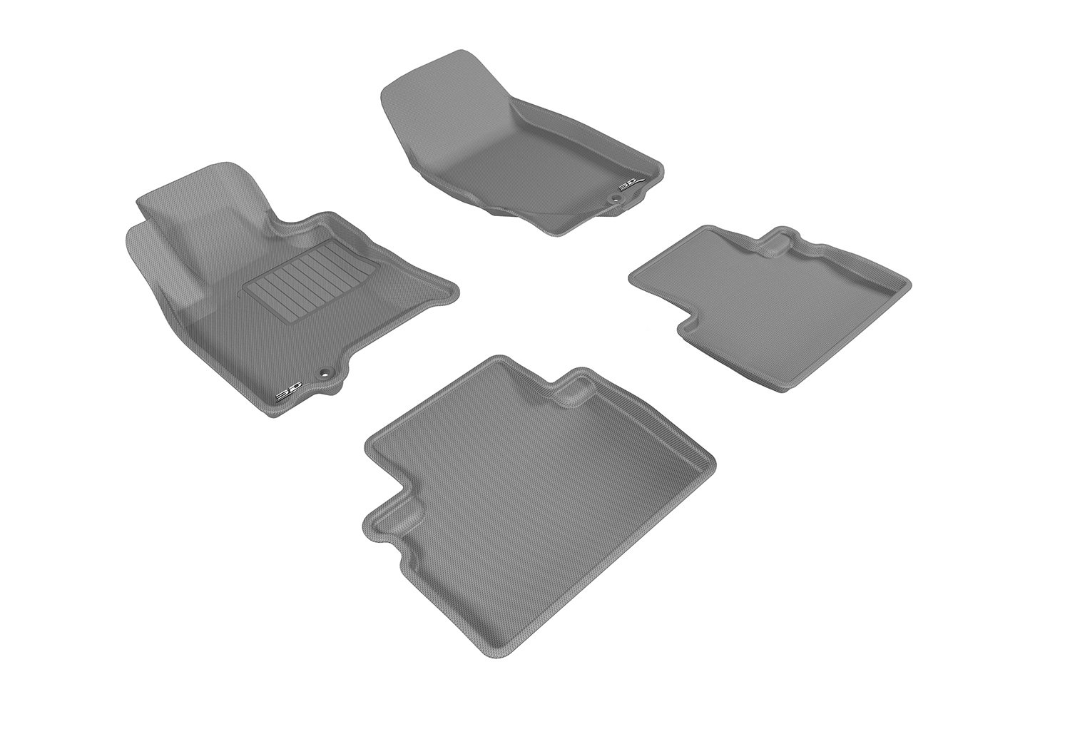 L1IN01901509 3D MAXpider Complete Set Custom Fit All-Weather Floor Mat for Select Infiniti QX50 Models Black Kagu Rubber