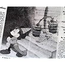 MOVIE FANTASIA Mickey Mouse Opening Day REVIEW & Advertisement 1941 NY Newspaper NEW YORK TIMES, November 14, 1940