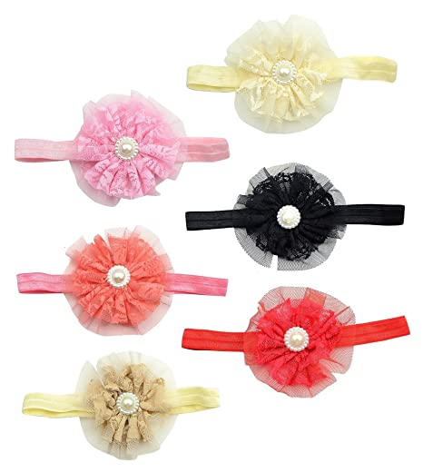 Newborn Infant Baby Girls Stretchy Elastic Bow Flower Headband Accessories eff05e34254