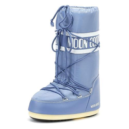 0e9e1a471b7c Moon Boot Classic Icon Womens Stone Wash Nylon Boots-Small  Amazon ...