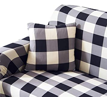 Phenomenal Its Good To Be Home Buffalo Check Print Plaid Sofa Loveseat Armchair Recliner Black And White 2 Seat 57X70 Black And White Dailytribune Chair Design For Home Dailytribuneorg