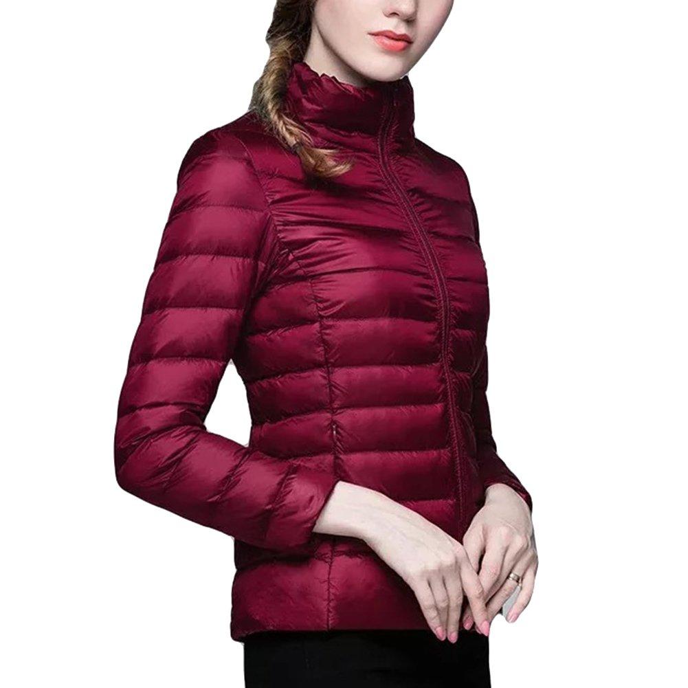 ZhuiKun Cappotto Donna Giacche di Piuma Giubbotto Piumini Ultraleggeri Packable Inverno Giacca
