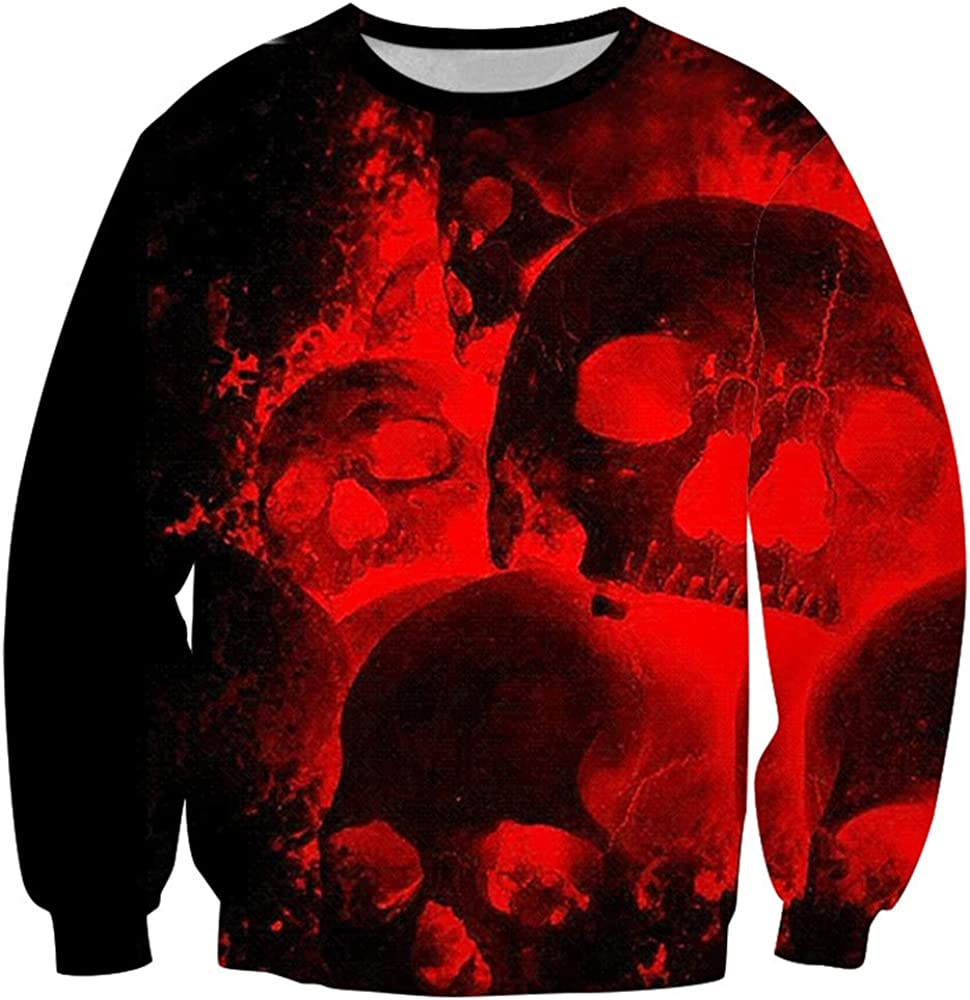 Sudadera con Capucha y Cremallera Camiseta de Uniforme de béisbol para niño Adolescente, Suéter con Estampado de Halloween Rojo XXXL: Amazon.es: Ropa y accesorios