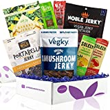 Vegan Jerky Sampler Gift Box: Vegan and Vegetarian Meatless Plant-Based Jerkies Made from Jackfruit, Seitan, Soy, and Fruit