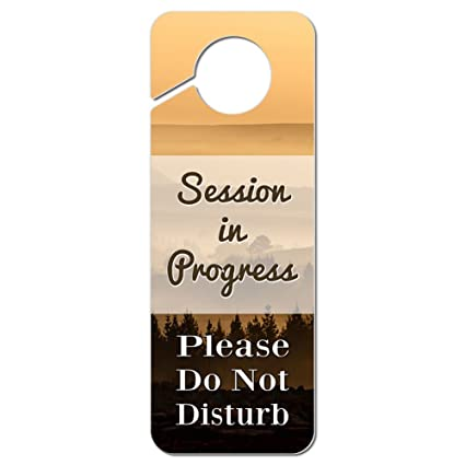 amazon com session in progress please do not disturb plastic door