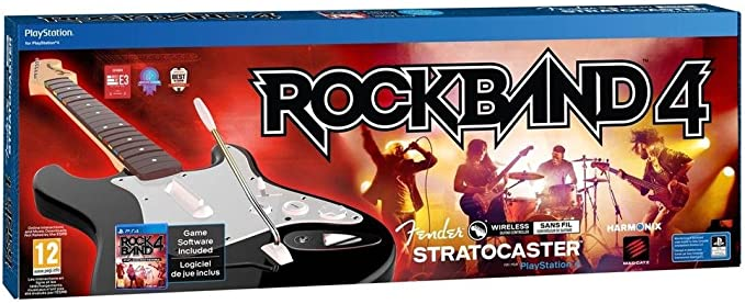 Rock Band 4 + Guitarra Wireless Fender Stratocaster, Color Negro ...