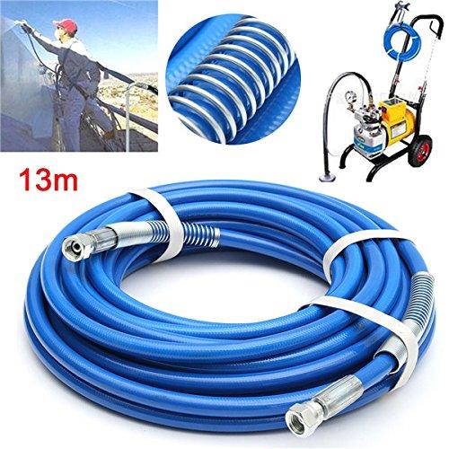 CoCocina Airless Sprayer Fiber Tube 13m Length 1/4 Inch 5000PSI Airless Spray Hose
