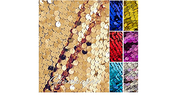 1 way stretch 130cm wide  Sparkling HOT RED sequin 9mm Sequin Fabric material