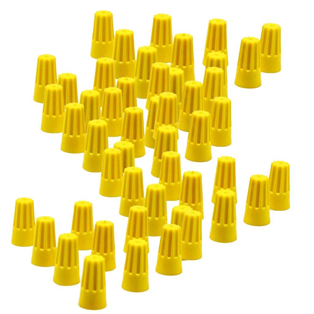 Baoblaze 100pcs Tapó n de Rosca Conectores de Cables para Automoviles - Azul