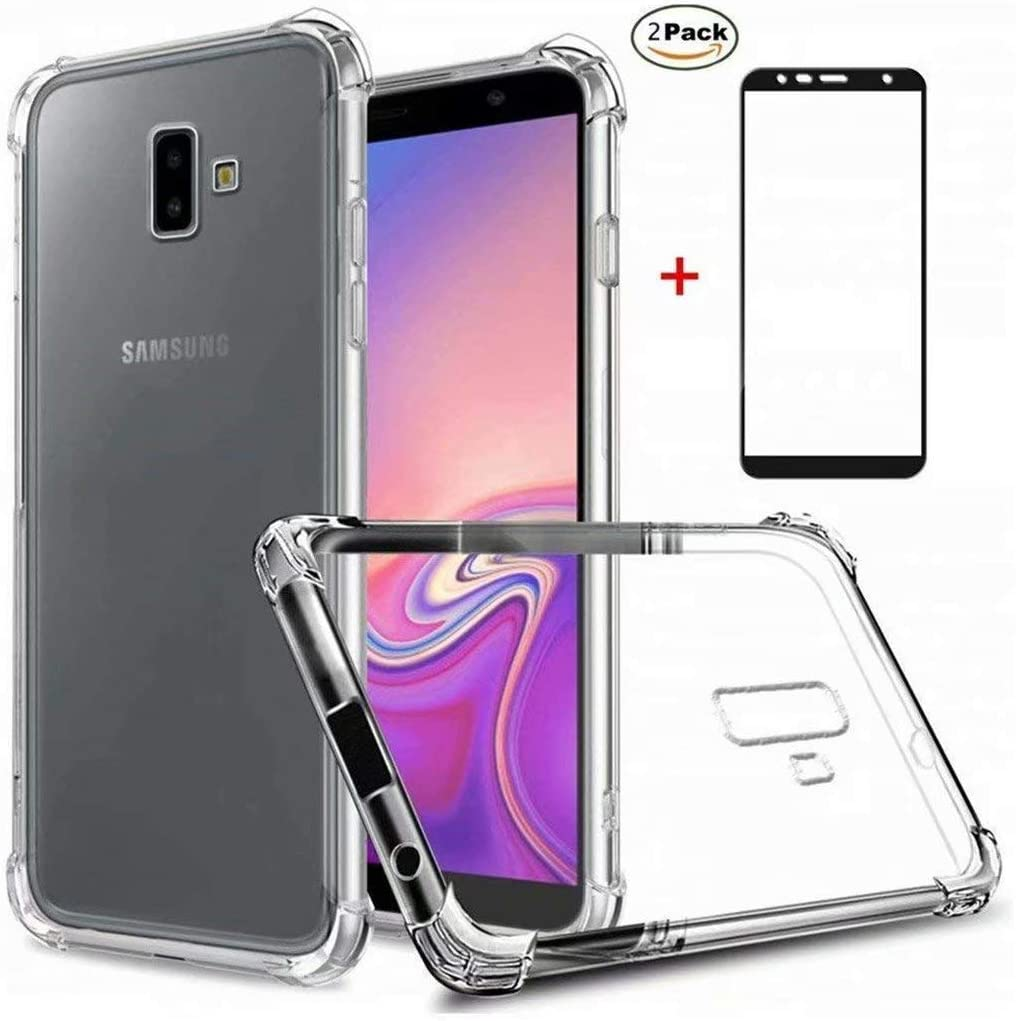 HUOCAI Samsung Galaxy J7 Pro /J730 Funda Transparente Silicona Fundas Silicona Crystal Shell Case Panel Trasero Transparente y Esquinas reforzadas en TPU [2 Pack Protector de Pantalla]: Amazon.es: Electrónica