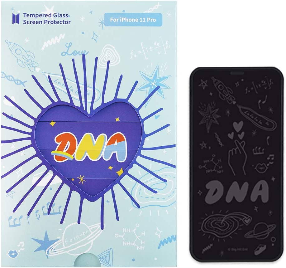 BTS DNA_iPhone Tempered Glass Screen Protector (Scratch-Resistant, high Definition) for iPhone 11 Pro(XS, X)