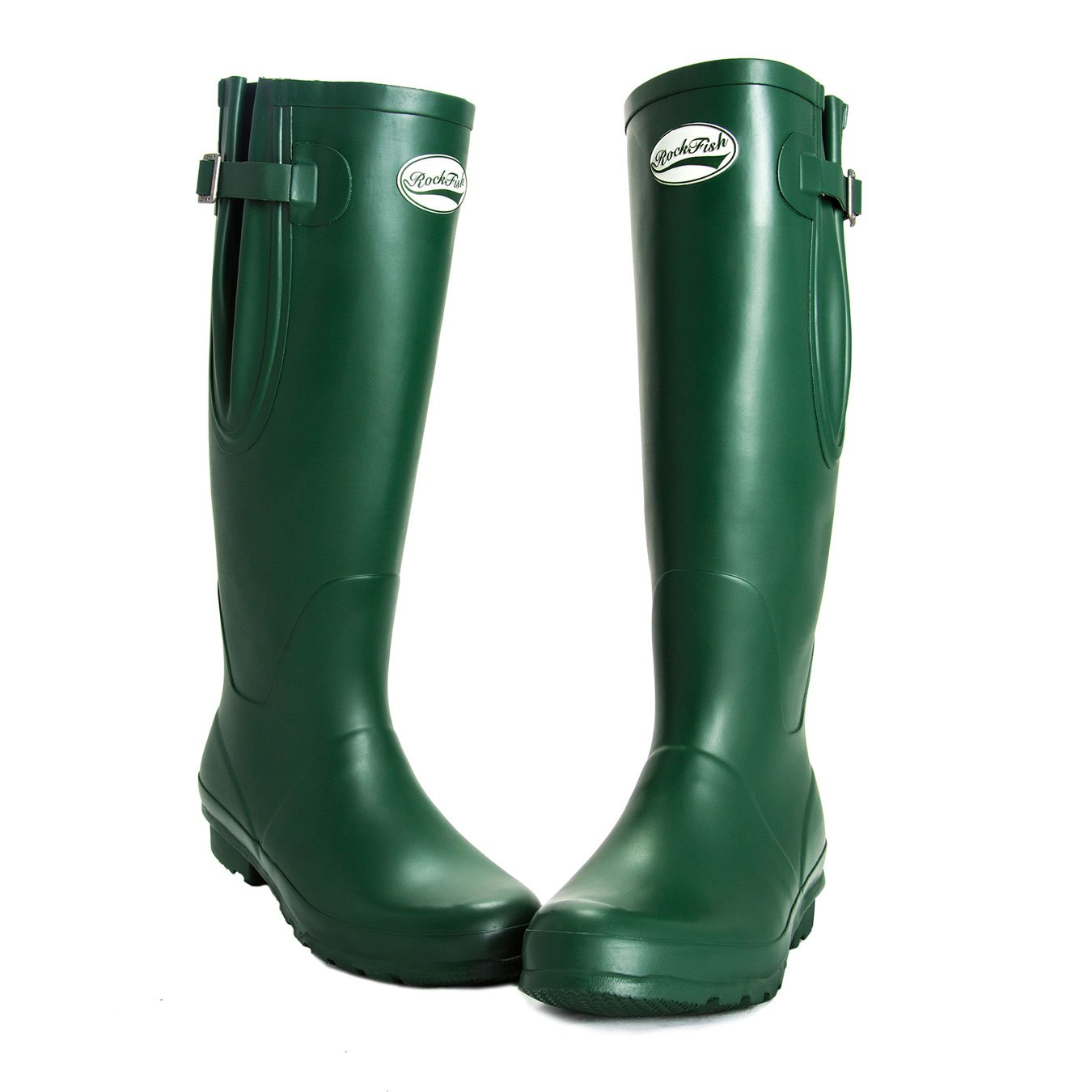 Racing vert Rockfish Award Winning bottes, Knee-High, Ladies Wellington bottes, bottes, Natural Rubber, calenderouge, Cushioned Insole, Taille 3  nouveau sadie