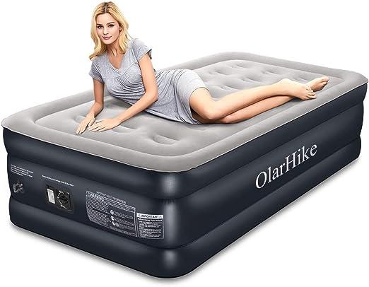 Amazon.com: OlarHike - Colchón de aire con bomba integrada ...
