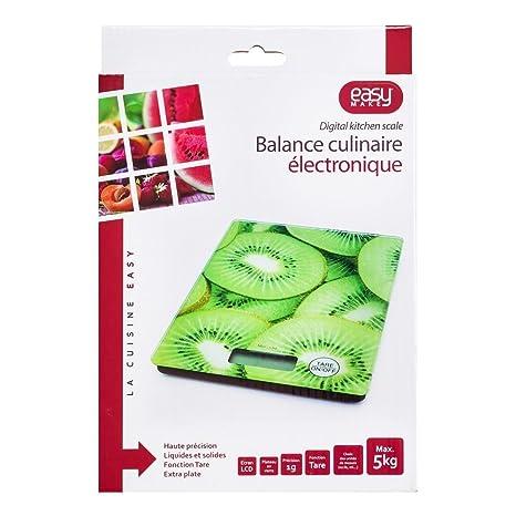 CMP Paris 956196-Báscula de cocina electrónica para fruta cristal, color aleatorio