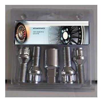 Not OEM ubr130 Perno/tornillos antirrobo M12 x 1,5 x 29 Ch19/21 bola R12 para ruedas de aleación y Accia: Amazon.es: Coche y moto