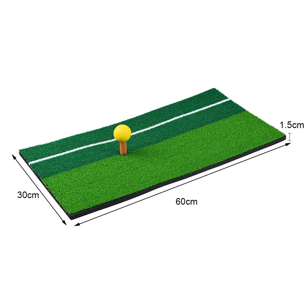 RUNACC Portable Golf Hitting Mat Residential Practice Hitting Mat Mini Golf Hitting Pad with Tee, Suitable for Golf, Green by RUNACC (Image #2)