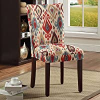 HomePop, ( Parson- Set of 2 ) Deluxe Multi- Color Dining Chairs