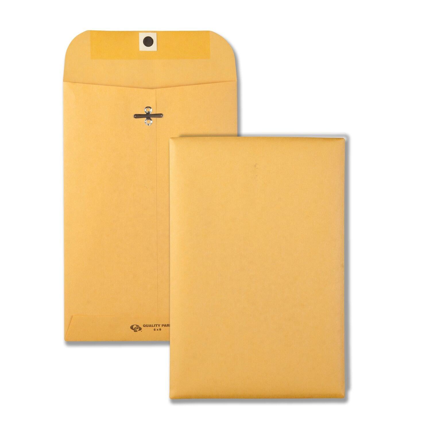 Quality Park 37894 Quality Park Clasp Envelopes, 9-1/4x14-1/2, 28lb, Brown Kraft, 100/Box by Quality Park