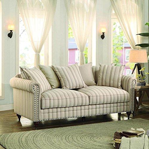 Hadleyville Sofa in Stripe Fabric