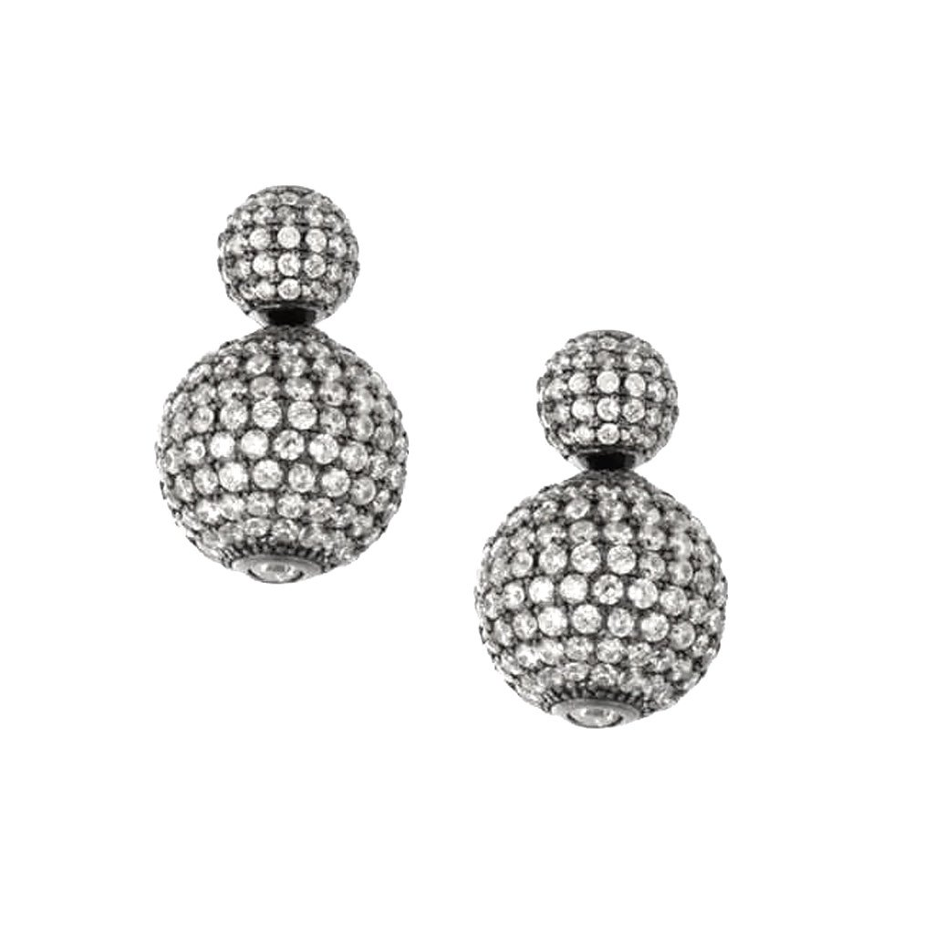 Double Sided Pave Tribal Earrings