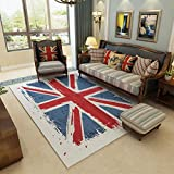 Flags Pattern Retro Area Rugs for Living Room Home Decoraction Large Carpet , B , 120160cm