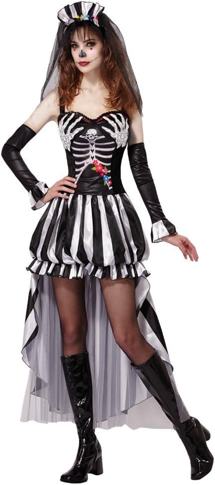 Bristol Novelty AF008 skelet koningin kostuum