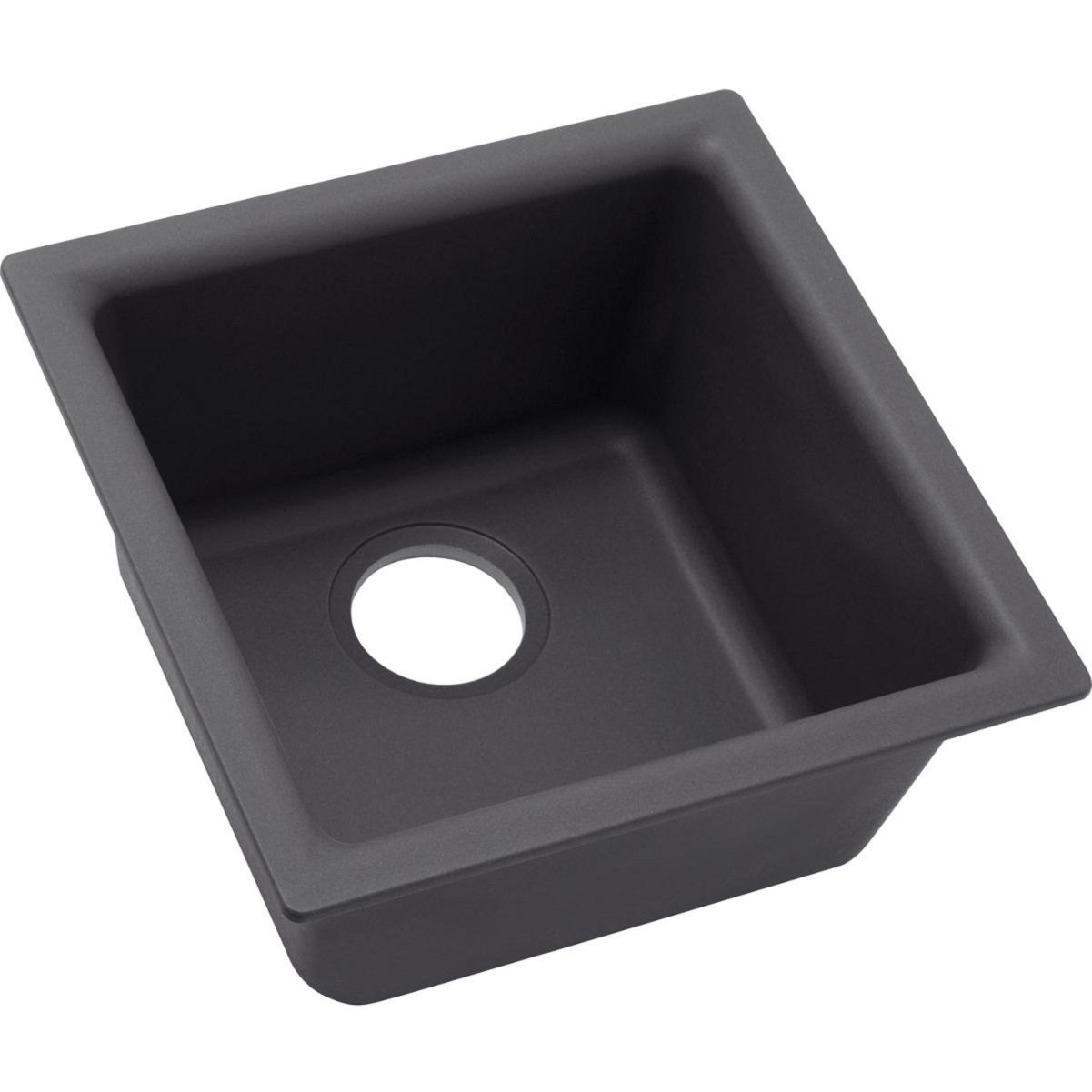 Elkay Quartz Luxe ELX1616CH0 Charcoal Single Bowl Dual Mount Bar Sink