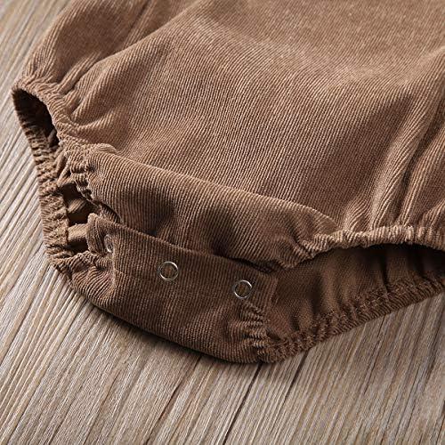 61e1Xv5vOjL. AC - Moore-Direct Infant Newborn Baby Girl Corduroy Bandage Solid Color Bodysuit Romper Playsuit Clothes