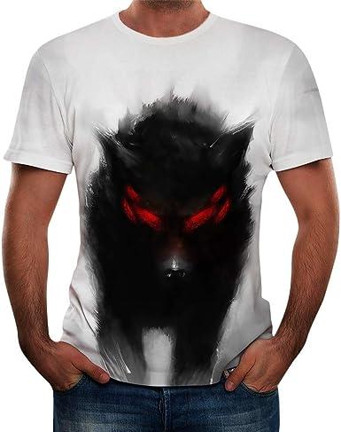 JUTOO Camiseta De Manga Corta Hombre Camisetas Hombre Originales Camiseta Deporte Camisetas Hombre Originales Divertidas Camiseta Termica Manga Corta Camiseta: Amazon.es: Ropa y accesorios