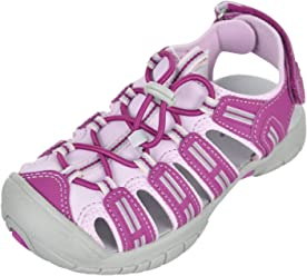 Khombu Girls Pink/Purple Closed Toe Athletic Sandal