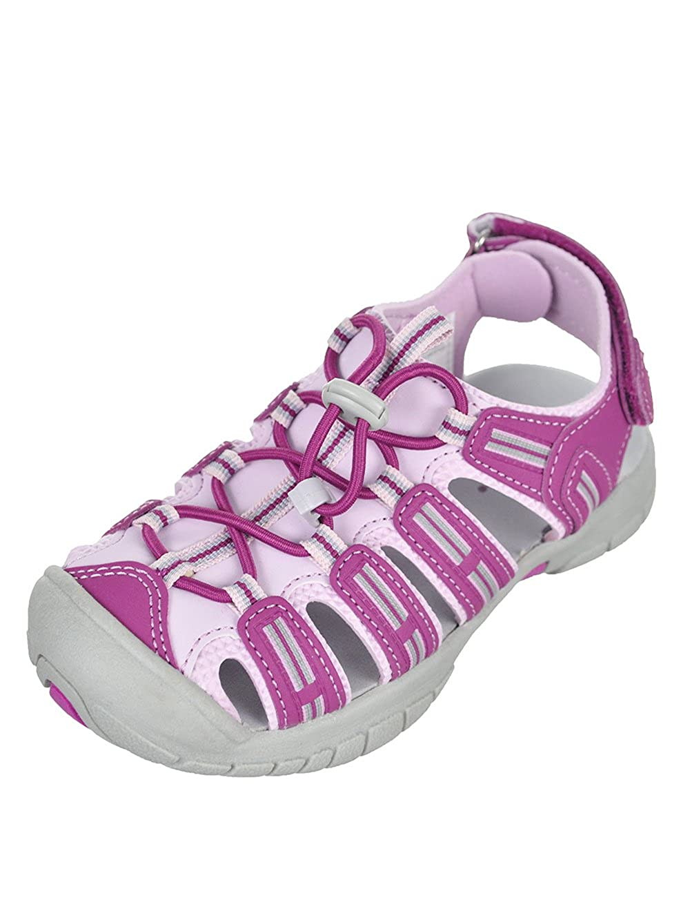 Purple Pick a Size Khombu Girls Kids Closed Toe Sport Sandals Shoe Light Grey