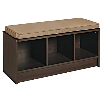 ClosetMaid 1570 Cubeicals 3 Cube Storage Bench, Espresso