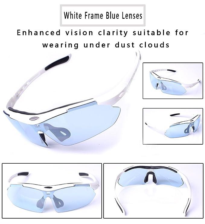 Amazon.com: Gafas de sol polarizadas para ciclismo de tres ...