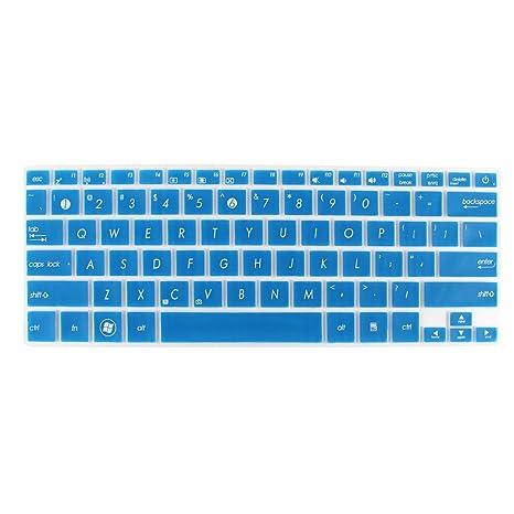 Sourcingmap – ® Protector de teclado para ordenador portátil azul Transparente para Asus UX21/X201