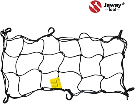 Motorycycle//ATV Bungee Cargo Storage Net with Adjustable Hooks Black 12 x 12