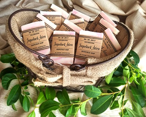 Soap Wedding Favors Personalized, Rustic Wedding Favors For Guests, Set of 10, Soap Favors For Bridal Shower -