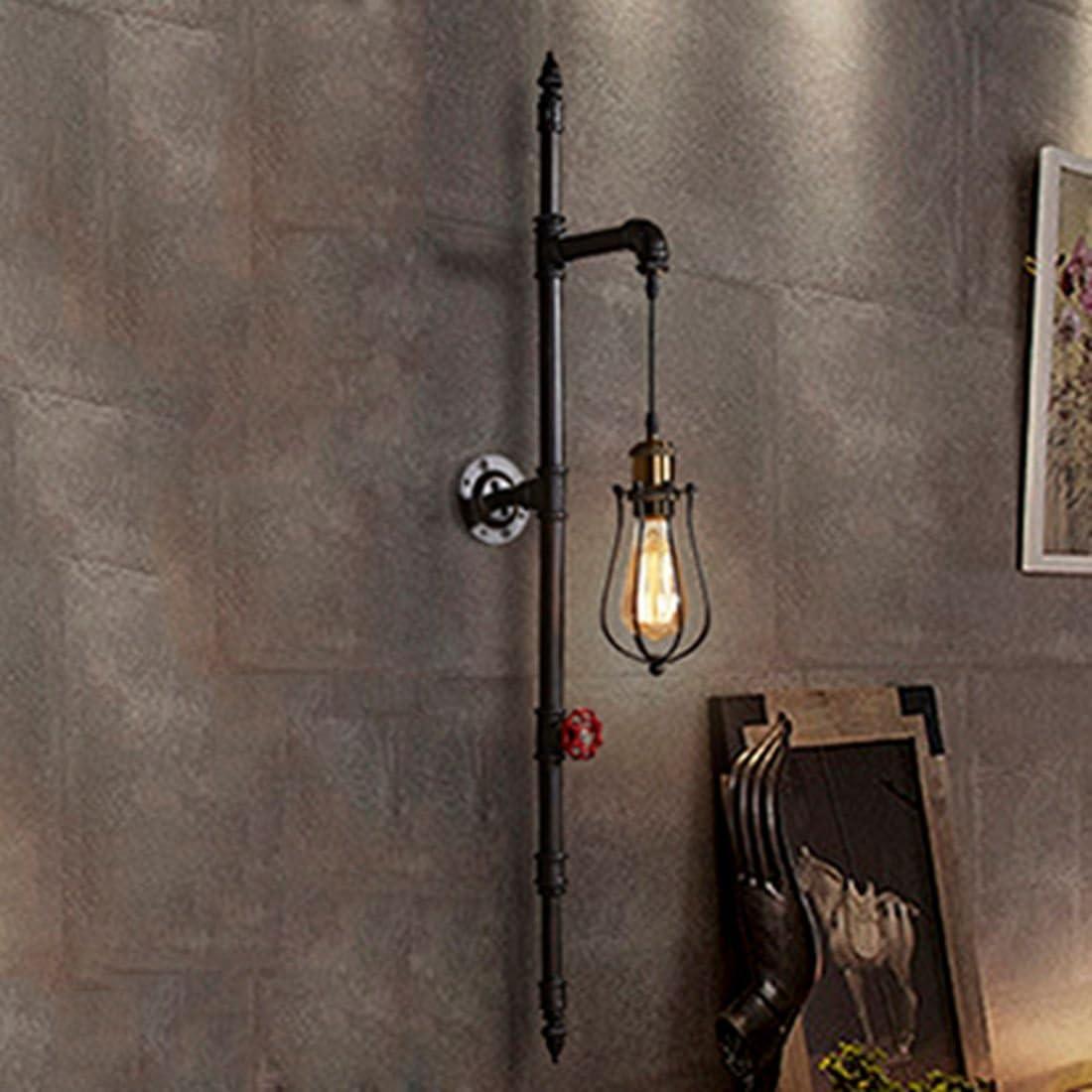 Keine Leuchtmittel RUNNUP Industrielle Vintage Wandlampe Wandleuchte Rohr lampe E27 Sockel f/ür Wohnzimmer Schlafzimmer Restaurant Caf/é Hotel Diele Keller Untergeschoss Dekoration