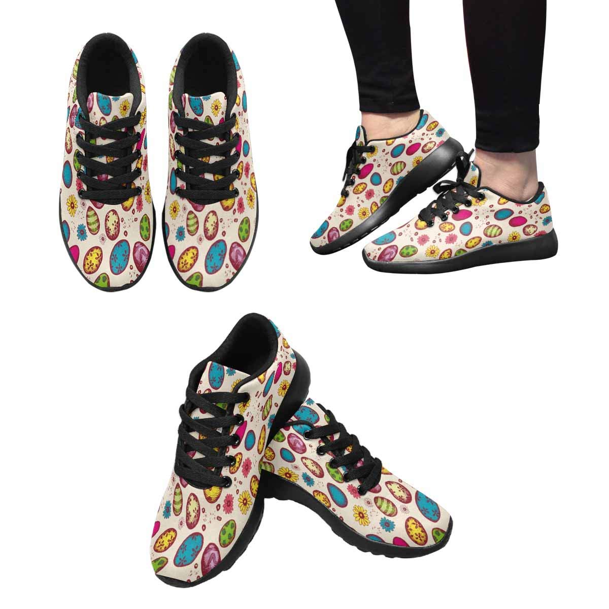 INTERESTPRINT Womens Running Shoes Lightweight Sneakers Athletic Tennis Sport Shoes Easter Bright Eggs