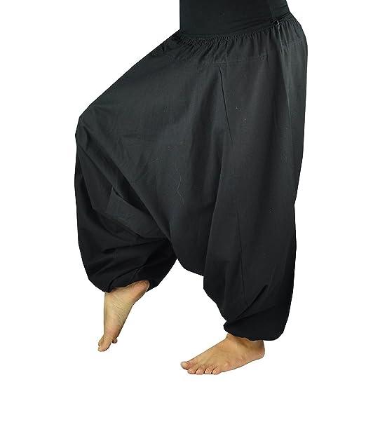 virblatt Pantalones Bombachos de Yoga Muy cómodos y de Corte Profundo como Ropa Hippie y Pantalones cagados para Hombres y Mujeres S - L– ...