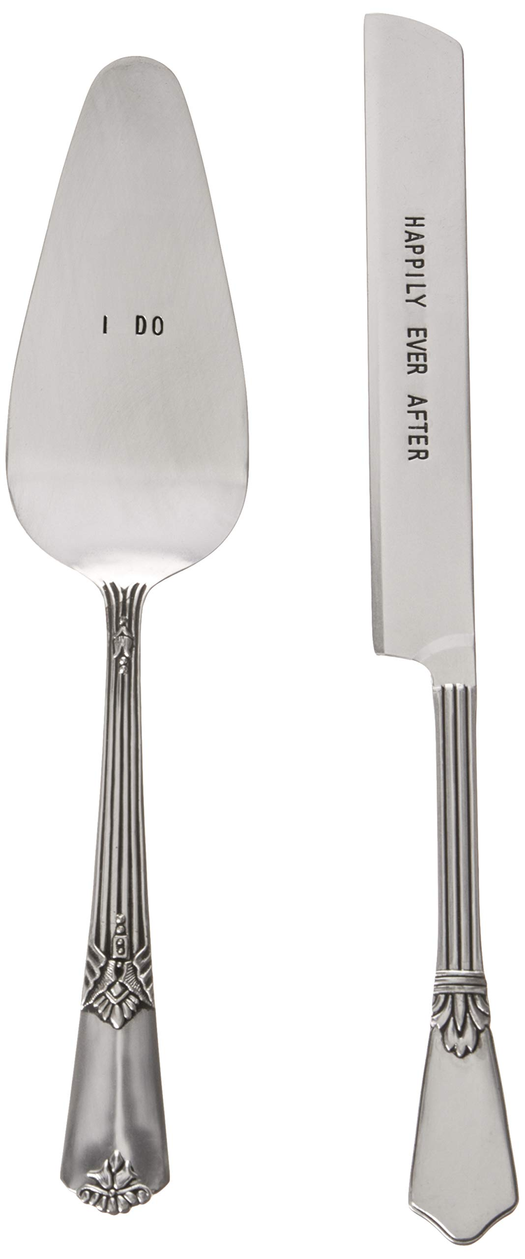 Mud Pie 4635002 Wedding Cake and Knife Serving Set, Silver by Mud Pie