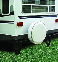 "Camco RV Vinyl Spare Tire Cover 27"" Diameter White. Camper Trailer"