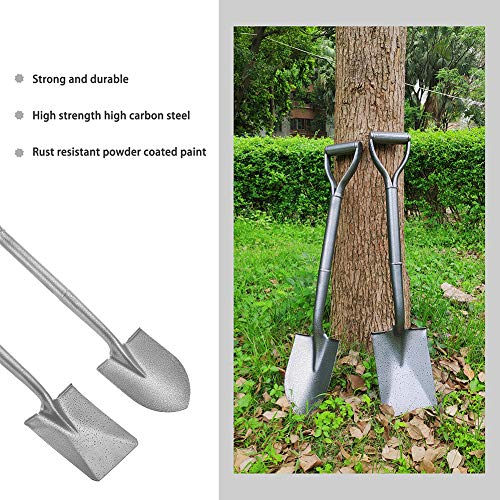 Z & G D-Handle Garden Shovel Mini Trunk Digging Spade Shovel with Round Point Blade and Comfortable D-Grip Handle 29.6 inch (Short Straight Shovel) (Cold Steel 2)