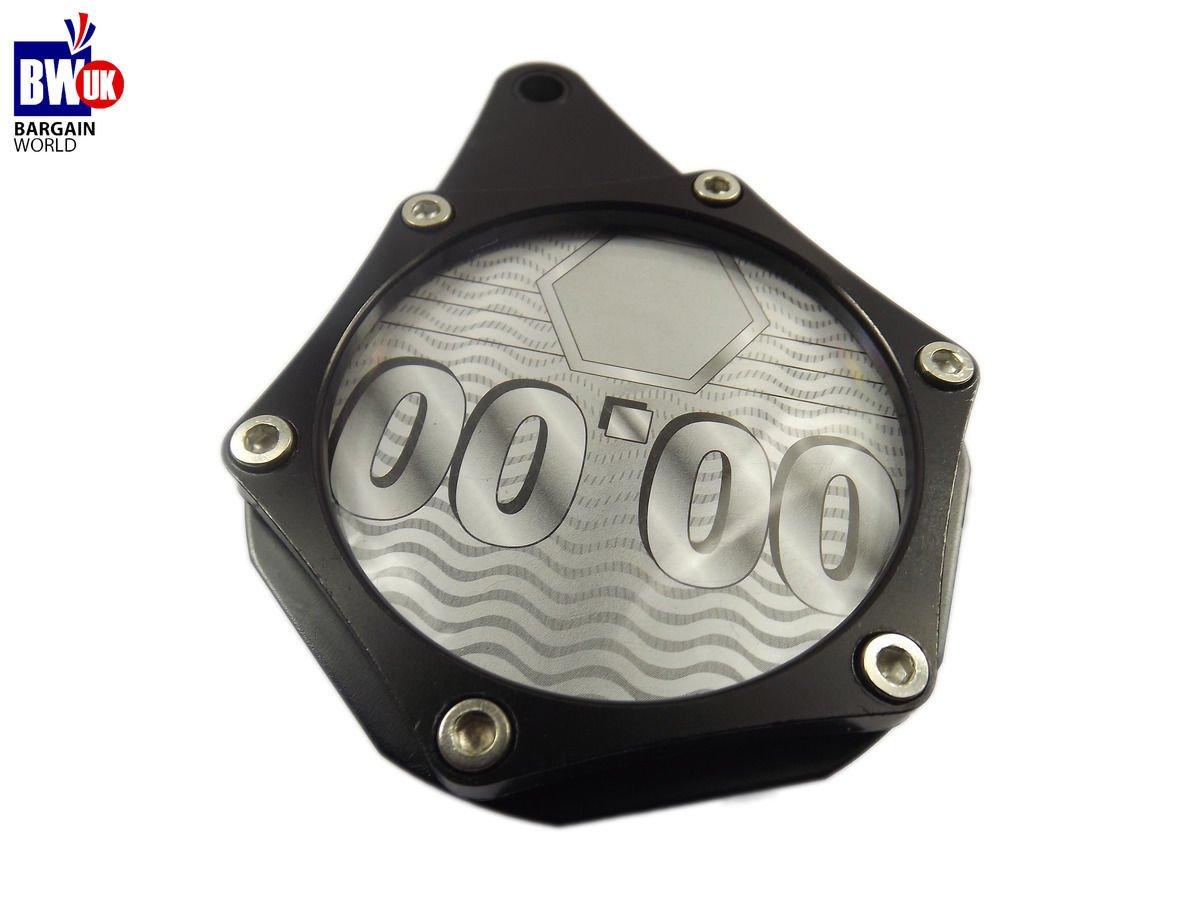 BLACK MOTORCYCLE MOTORBIKE BIKE SCOOTER TAX DISC HOLDER WATERPROOF METAL AC03/SVR BargainworldUK