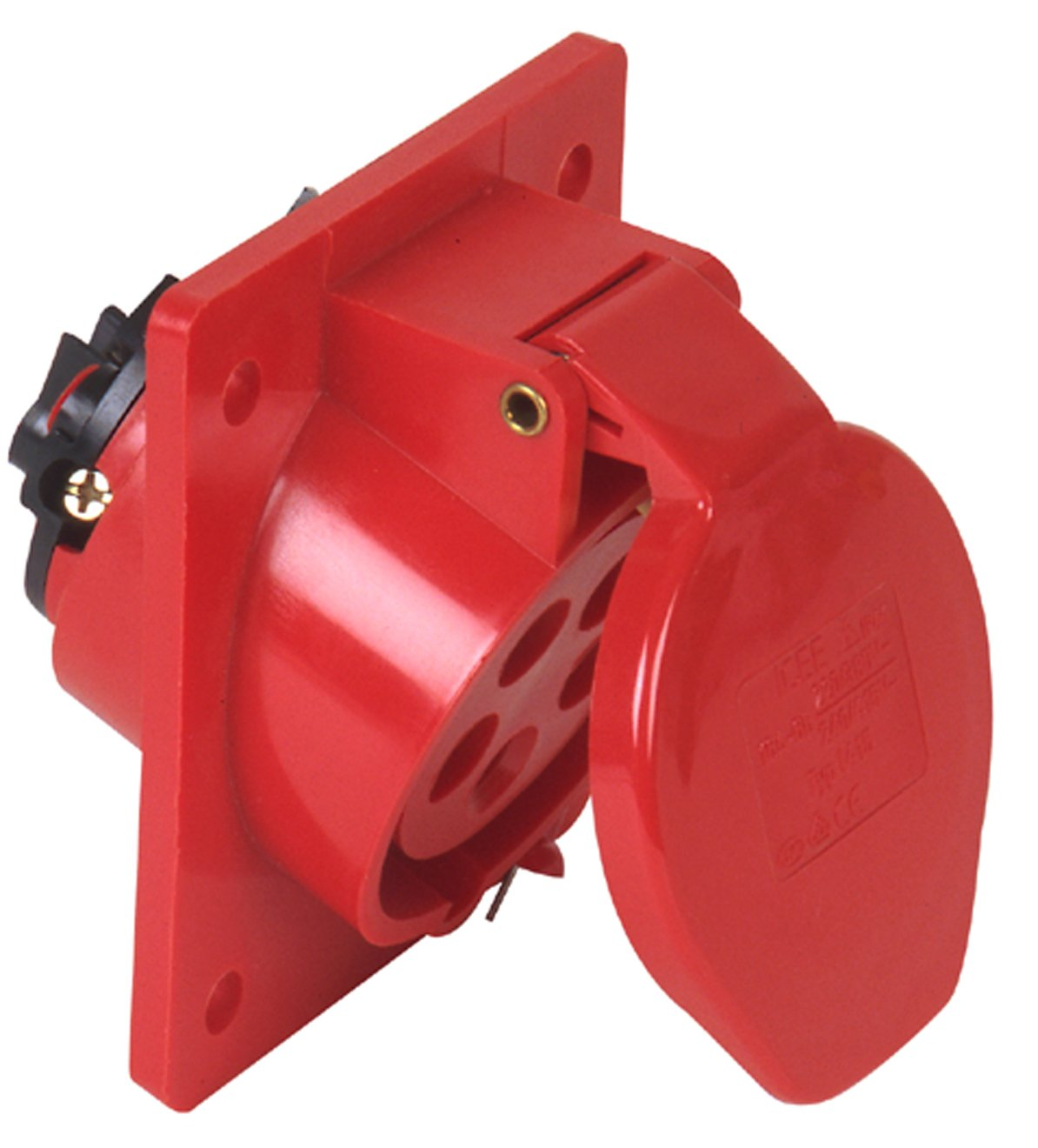 PCE 47414L Surface-Mount CEE Socket 32A 5-Pin Red
