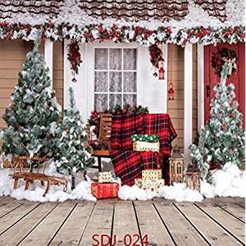 Amazon Com 10x10ft Christmas Tree Outdoor Snow Landscape Theme